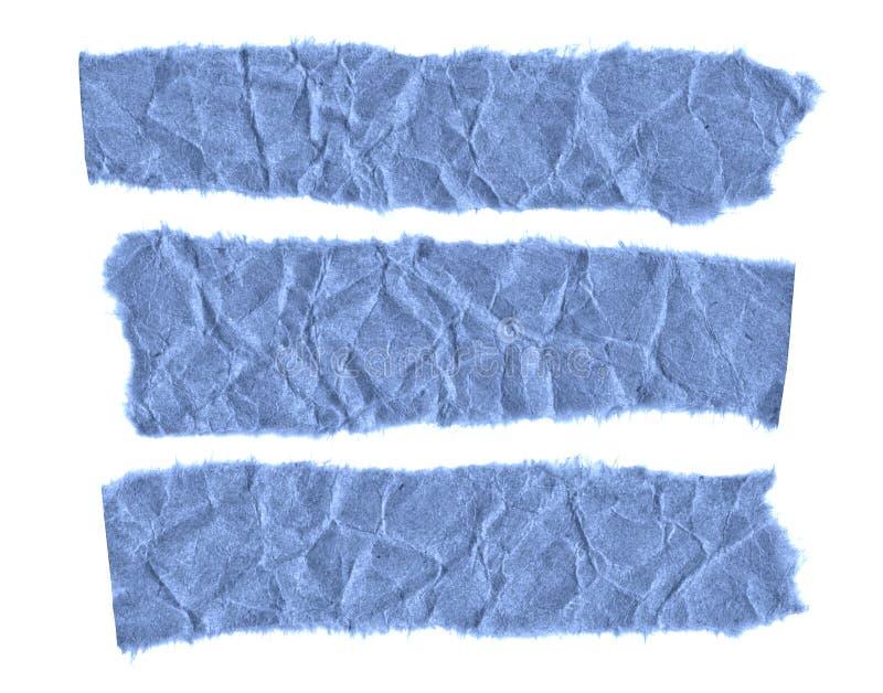 Rester av papper på en vit bakgrund Isolerat på vit Klar ram för designen, mall royaltyfri bild