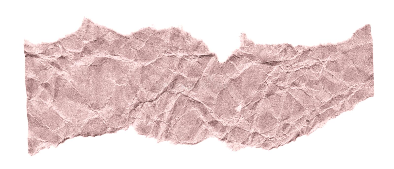 Rester av papper på en vit bakgrund Isolerat på vit Klar ram för designen, mall arkivbilder