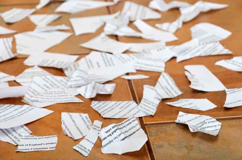 Rester av papperen arkivbild