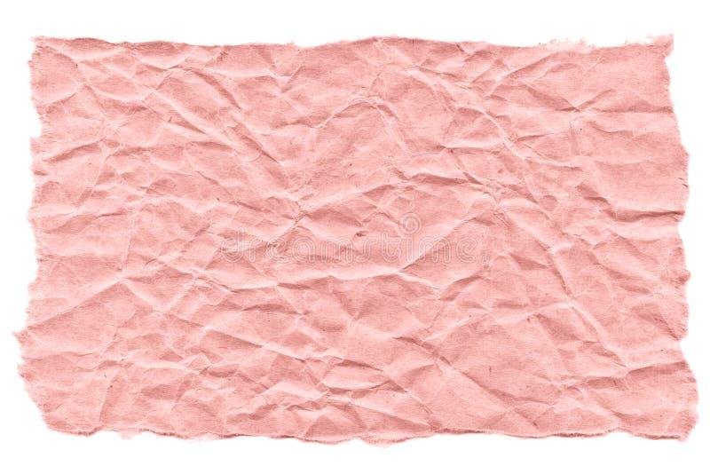 Rester av rosa papper på en vit bakgrund Isolerat p? vit Klar ram f?r designen, mall royaltyfri foto