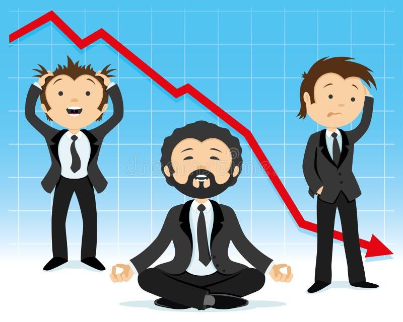 Rester d'homme d'affaires calment illustration stock