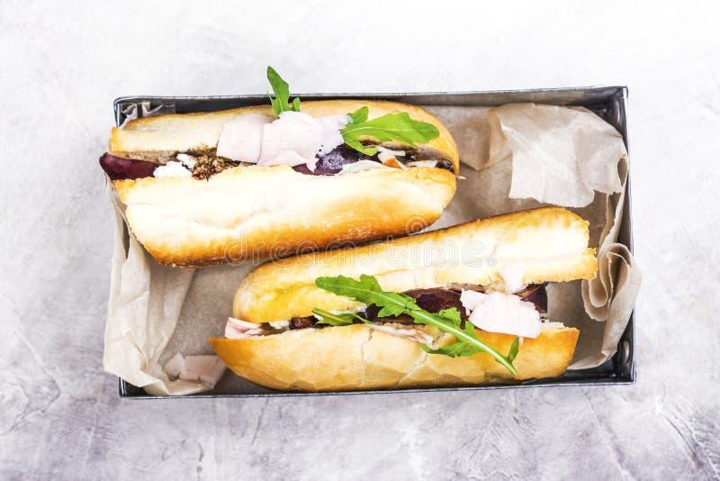 Rester kalkonsmörgås fotografering för bildbyråer