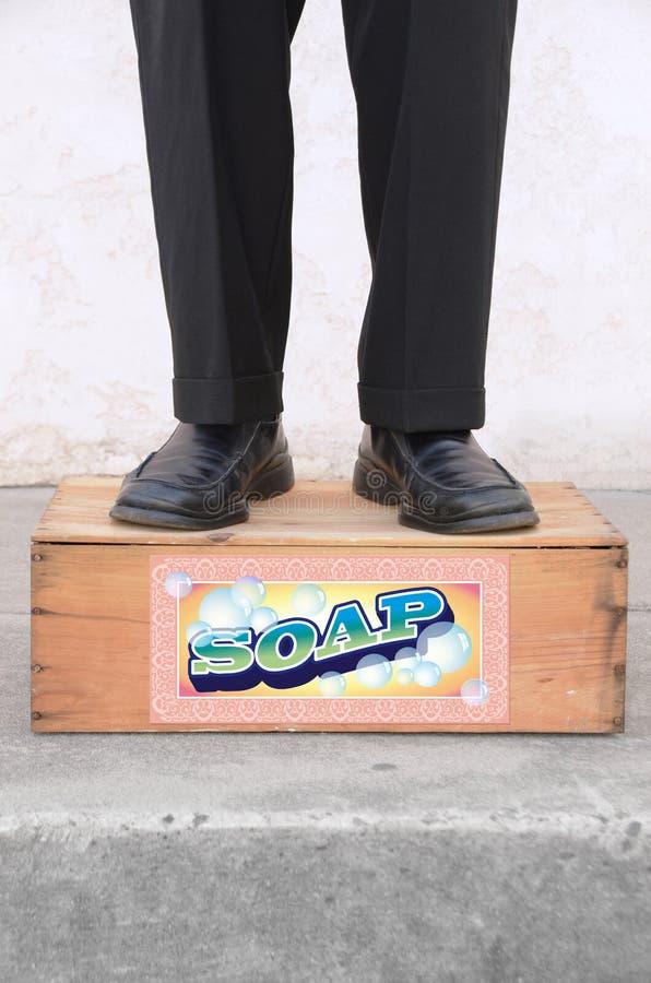 Rester sur un cadre de savon photographie stock