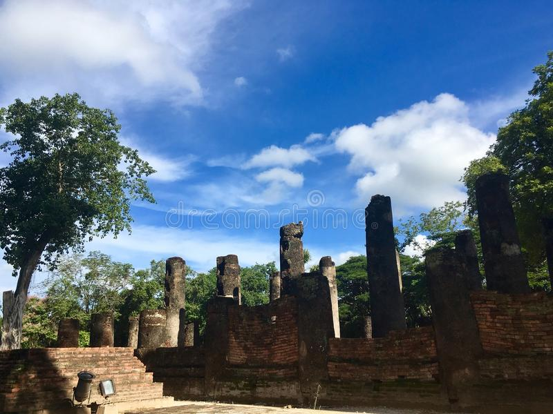 Restes antiques de temple images libres de droits