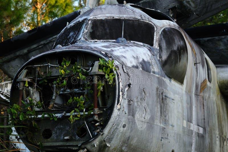 Restes d'un vieil avion photographie stock