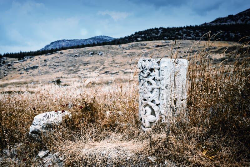 Restes d'une colonne classique découpée photographie stock libre de droits