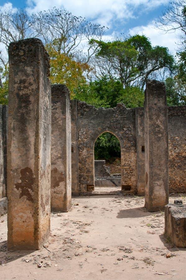 Restes de Gede, au Kenya, l'Afrique photos stock