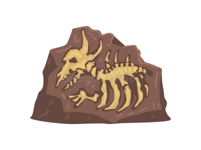 Restes de l'animal préhistorique, illustration de vecteur d'objet façonné d'Aarchaeological illustration stock