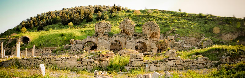 Restes de la ville antique d'Ephesus images stock