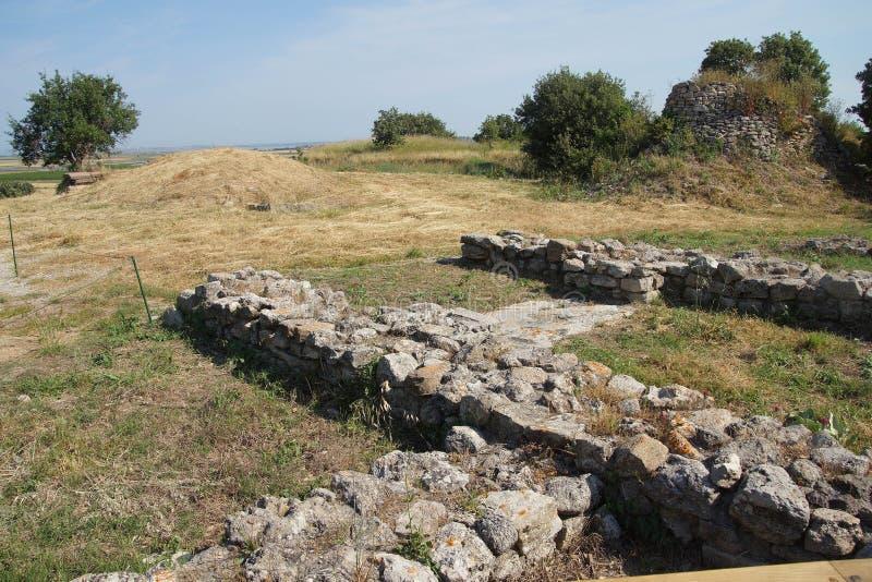 Restes des murs de Troie photographie stock libre de droits