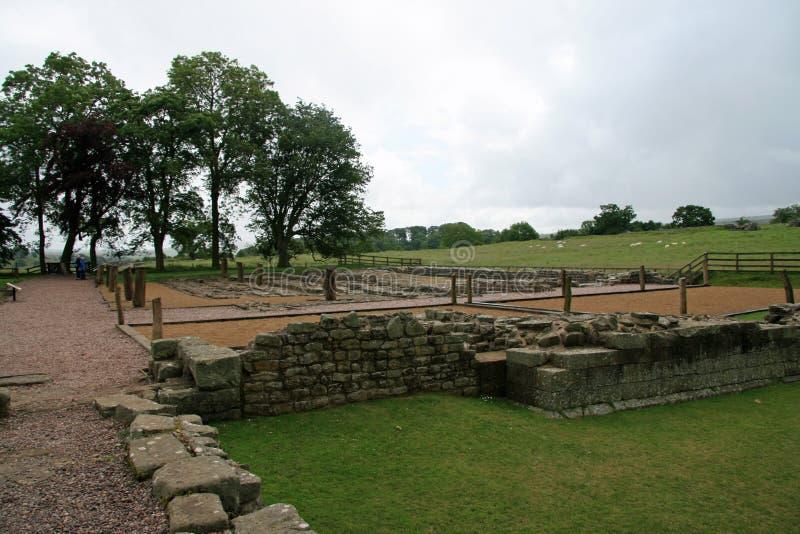 Restes du mur de Hadrians de fort chez Birdoswald photographie stock libre de droits