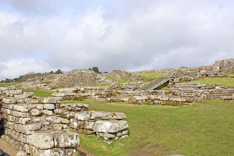 Restes romains chez Housesteads photographie stock libre de droits