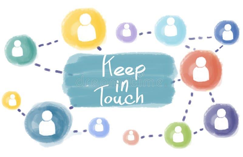 Restez en contact se relient suivent le media social suivent le concept image libre de droits