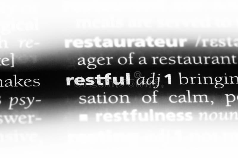 restful стоковые изображения rf