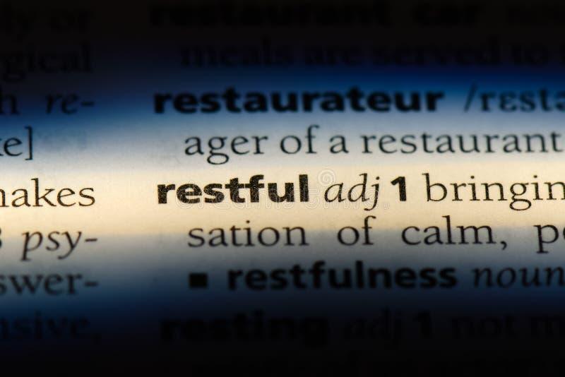 restful стоковая фотография rf