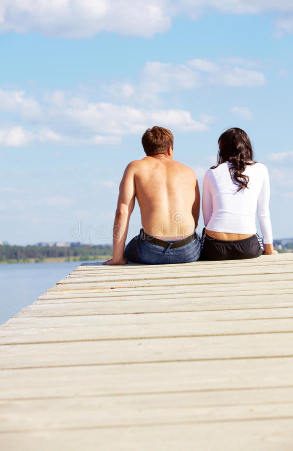 Download Restful couple stock photo. Image of darling, natural - 14945388