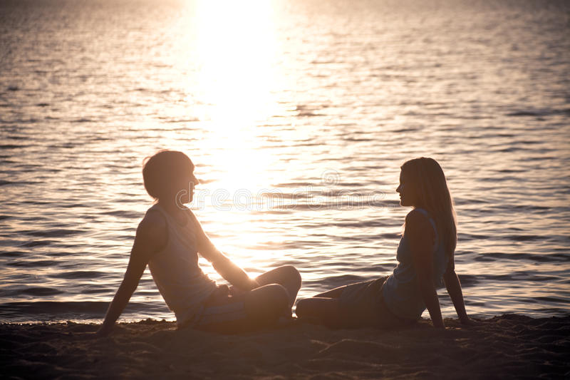 Restful couple royalty free stock photos
