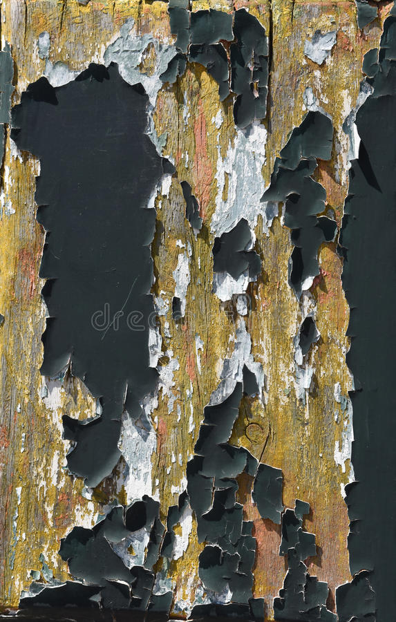 Resti di pittura su vecchio legno immagine stock