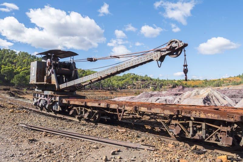 Resti di vecchie miniere di Riotinto a Huelva Spagna immagine stock