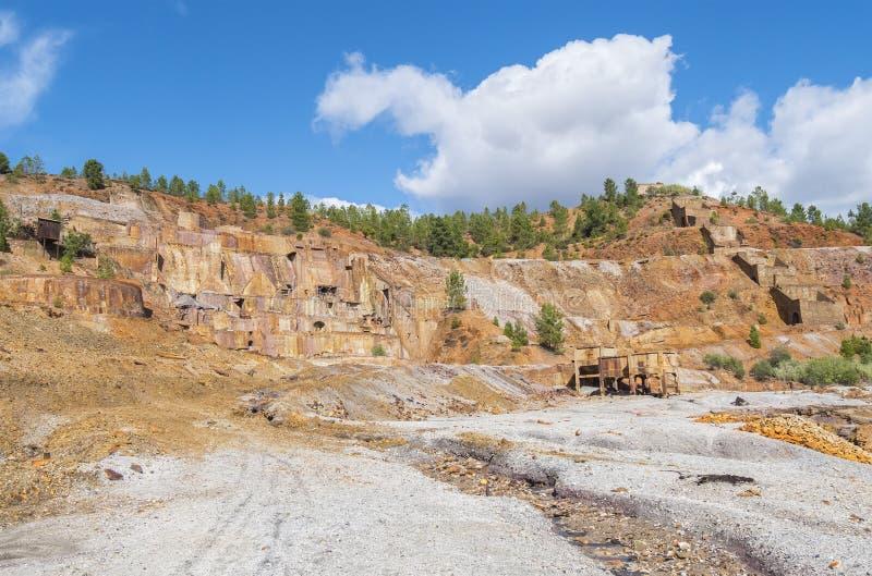 Resti di vecchie miniere di Riotinto a Huelva Spagna immagini stock