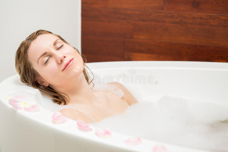 Resting in a bath royalty free stock photography