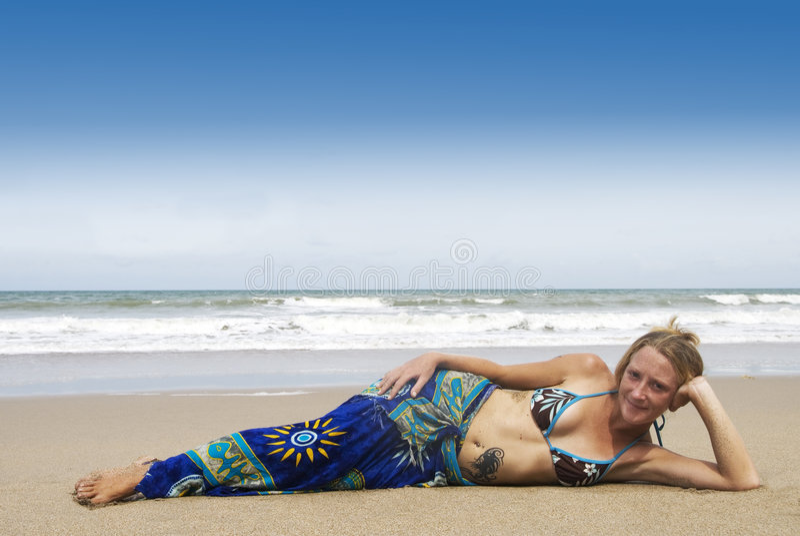 Download Resting on the beach stock image. Image of bikini, sand - 2917485