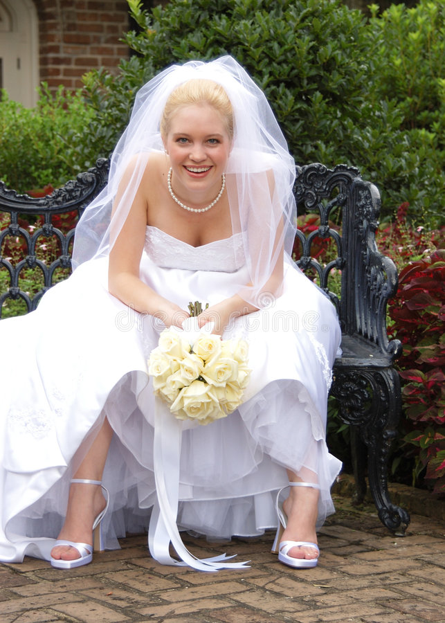Resting Bride stock image