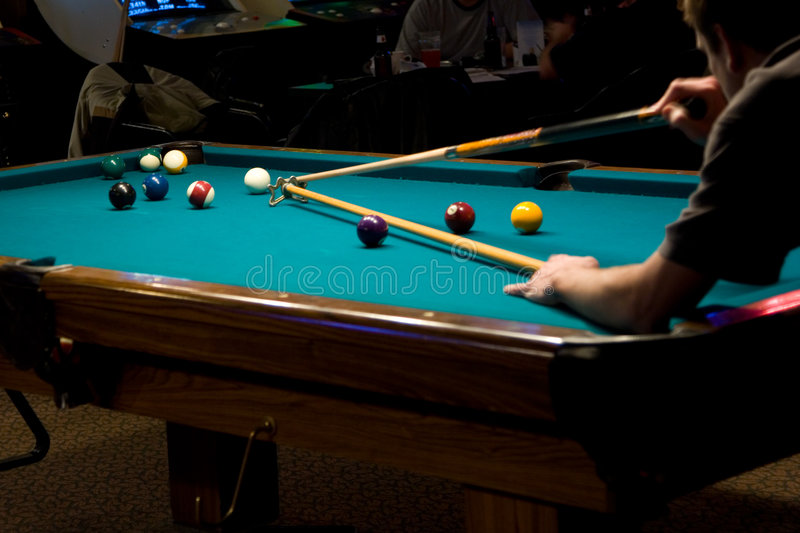Resting the Cue royalty free stock photo