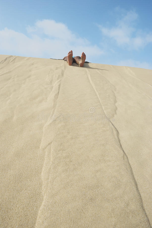 Download Resting on a Dune stock image. Image of arms, space, desert - 19646473
