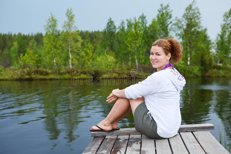 Resting On The Edge Of Lake Stock Images