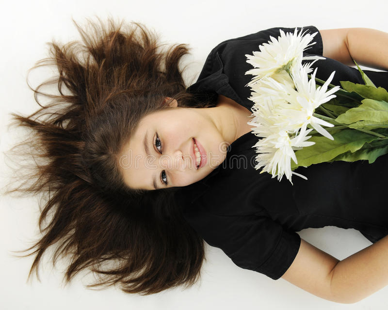 Download Resting with Flowers stock photo. Image of person, smile - 28770776