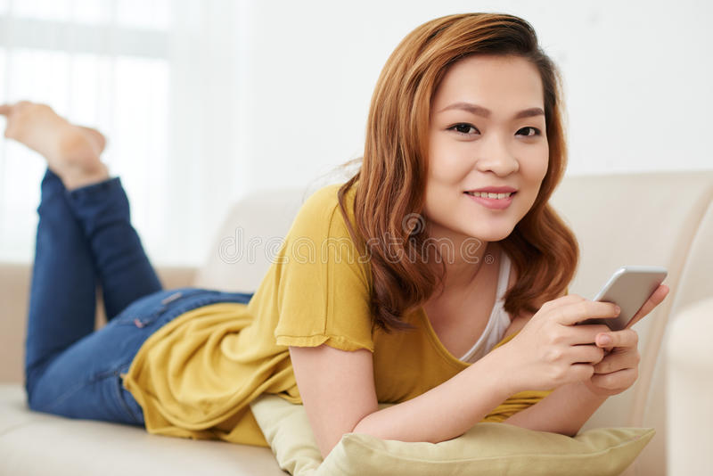 Resting girl stock images
