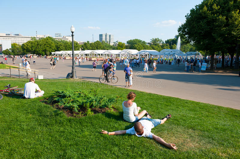 Download Resting in the Gorky Park editorial stock photo. Image of person - 27617788