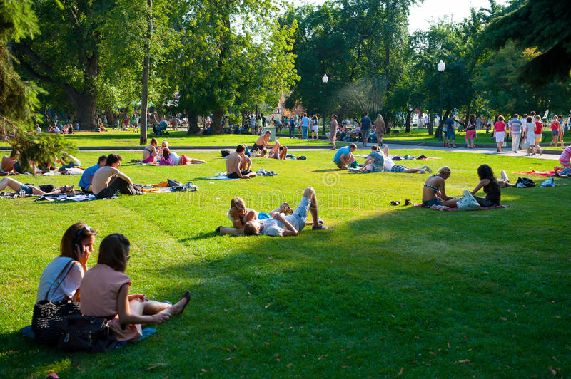Download Resting in the Gorky Park editorial stock image. Image of happy - 27617829