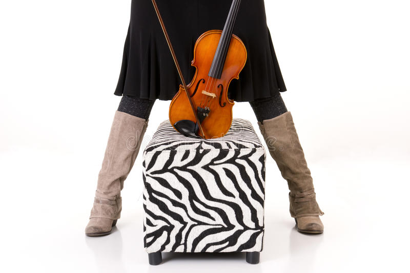 Download Resting Instrument On Ottoman Violin Legs Stock Images - Image: 23101984