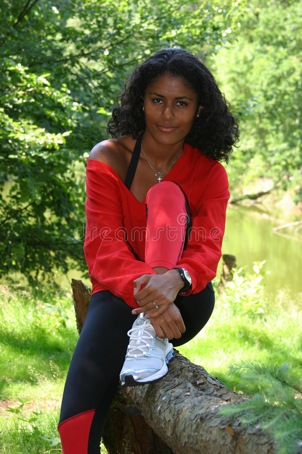 Download Resting after jogging stock photo. Image of portrait, pretty - 172312