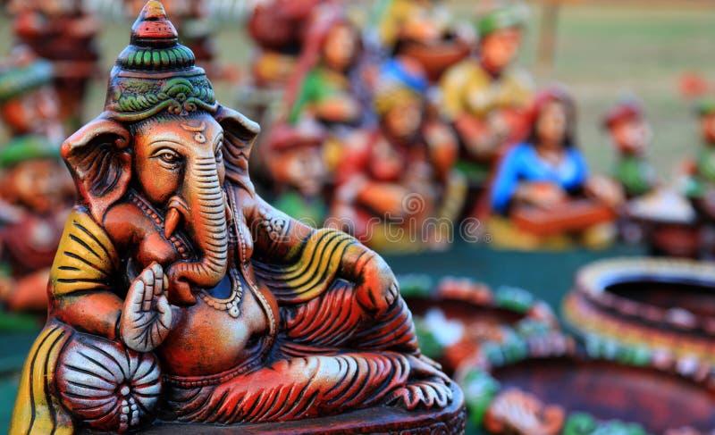 Resting lord Ganesha royalty free stock photography