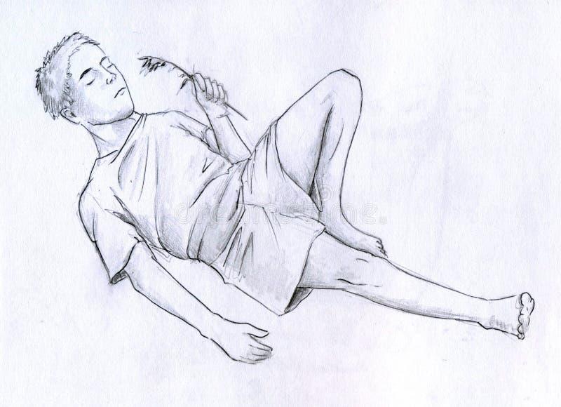 Download Resting man stock illustration. Image of blade, images - 19766047