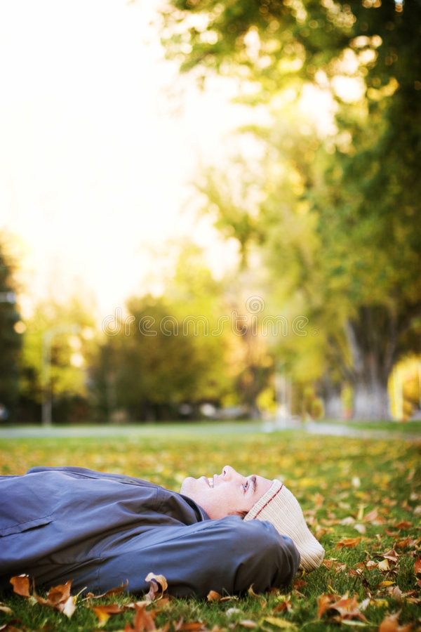 Resting in the park royalty free stock photos