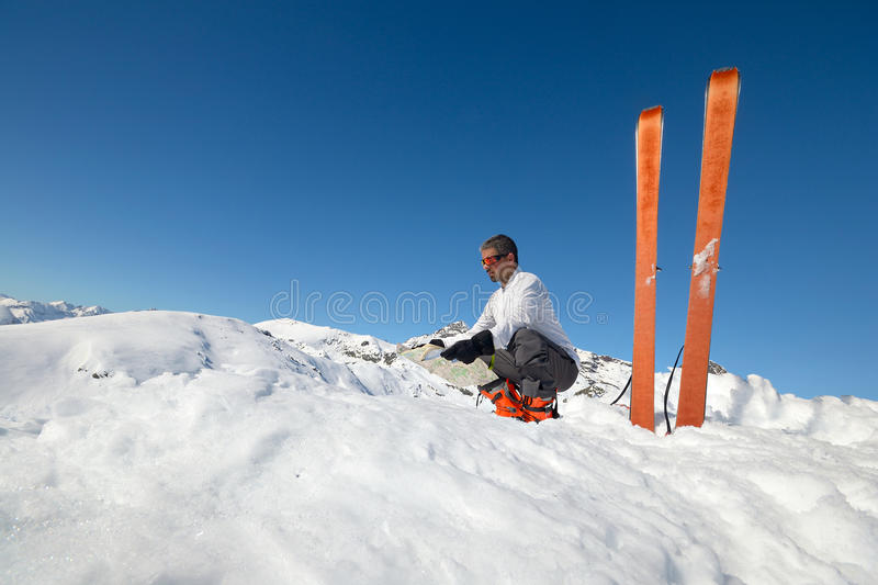 Resting on the summit royalty free stock photos