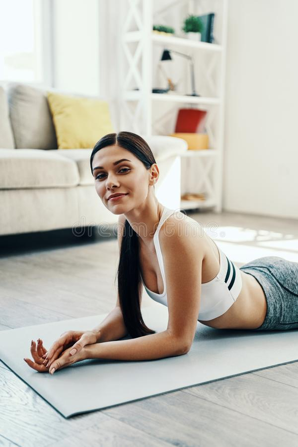 Resting after training. royalty free stock images