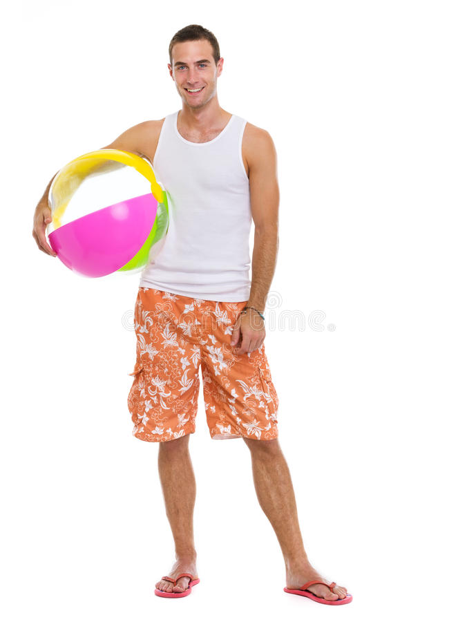 Download Resting On Vacation Man With Beach Ball Stock Photo - Image: 25597040