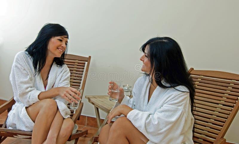 Resting Women in Spa