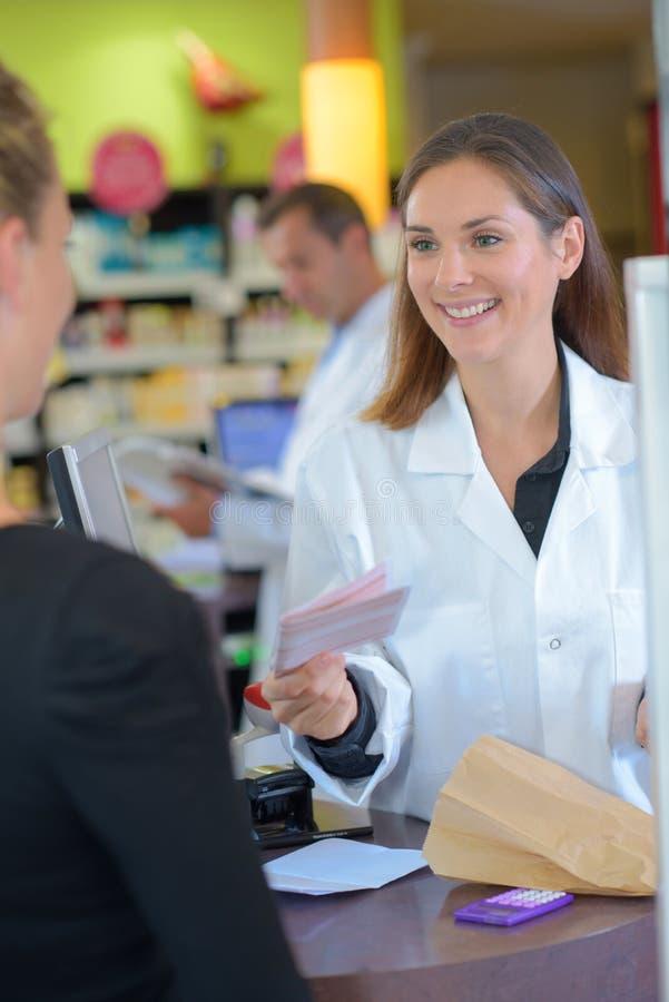 Restituer la prescription photo stock