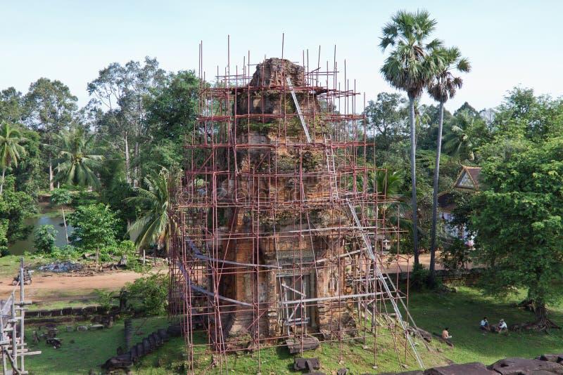 Restitution au temple de Bakong photo stock