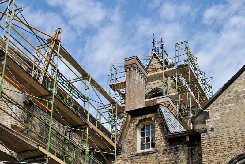 Restitution de la construction historique photos stock