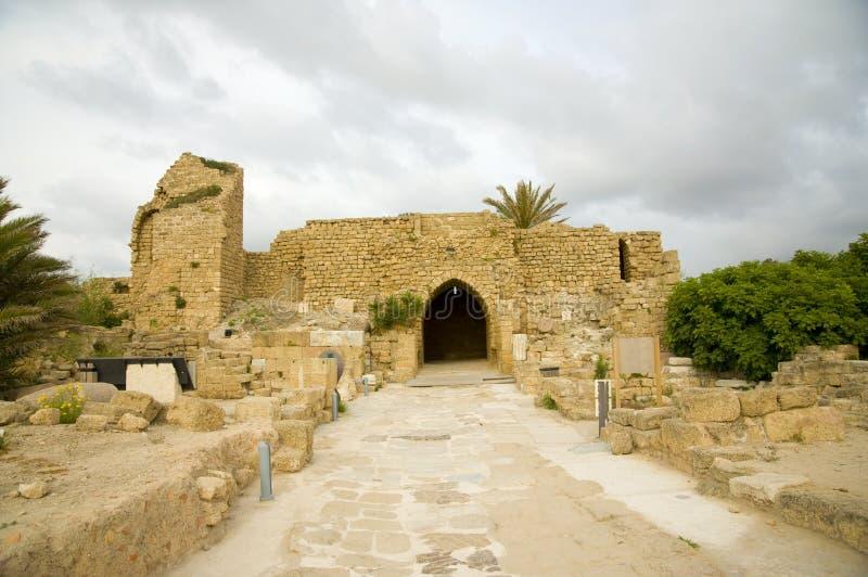 Resto de Caesarea fotografia de stock royalty free