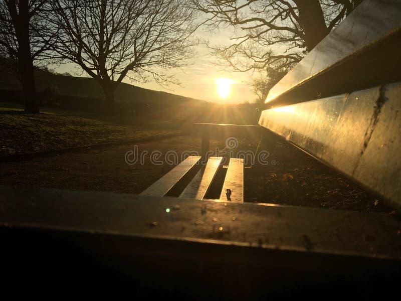 Resto de la puesta del sol foto de archivo libre de regalías