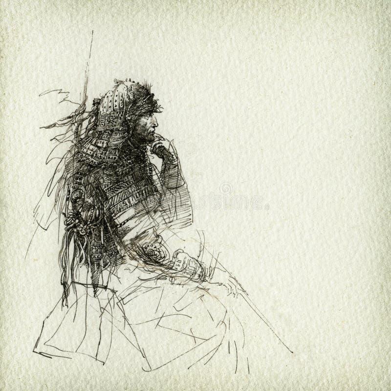 Resto del guerrero ilustración del vector