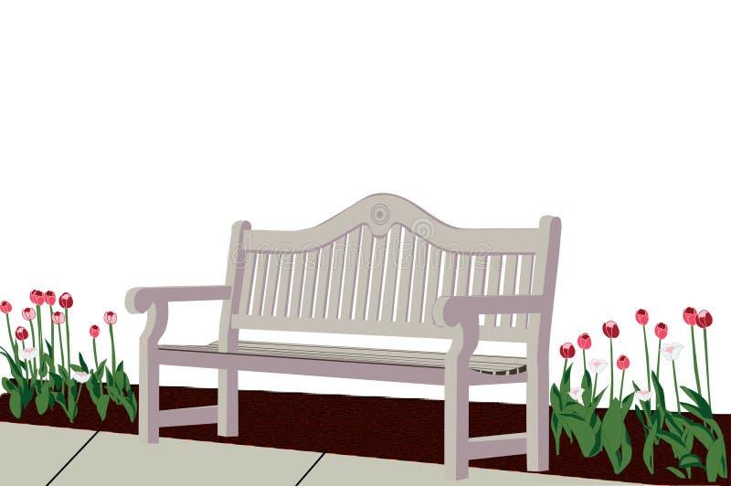 Resto del jardín ilustración del vector